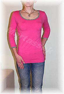 Tričká - Triko 3/4 rukáv-více barev (Fialová) - 4998811_