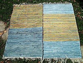 Úžitkový textil - tkané koberce SET rifľový 70 x 160 cm - 4998672_