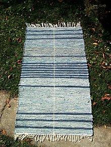 Úžitkový textil - koberec tkaný rifľový 70 x 150 cm - 4998746_