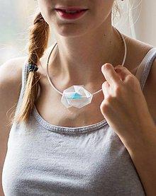 Náhrdelníky - náhrdelník POLYGON TYRKYS - 4999224_