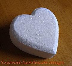 Polotovary - polystyrenové srdce polotovar / 10cm - 4998450_