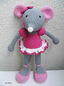 Hračky - Myška balerínka - 4997208_