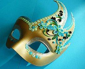 Ozdoby do vlasov - Benátska maska - 4996378_