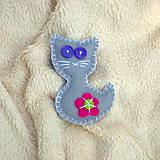 Odznaky/Brošne - Kočička s kytičkou... - 4999576_
