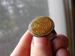 Prstene - Prsteň väčší guľatý (Zlatisté cestičky - akcia č.45) - 5003588_
