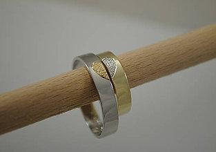 Prstene - Dvojfarebné obrúčky