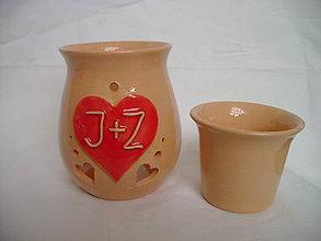 Svietidlá a sviečky - valentínska aróma lampa - 5007443_