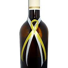 Nádoby - Nalepovacia ozdoba na fľašu, rôzne farby - 5006449_