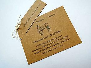 Papiernictvo - Kartičky - pozvánka k svad. stolu ku svad. oznámeniu