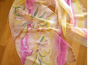 Šály - Hodvábna orchidea... - 5006676_