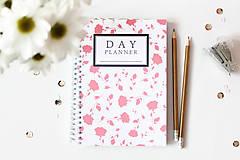 Papiernictvo - day planner // roses - 5008372_