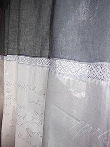 Úžitkový textil - Ľanové závesy Frozen Beauty - 5007423_