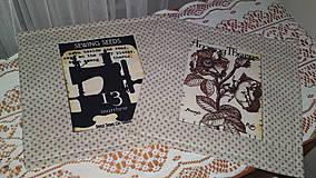 Úžitkový textil - podkafíčka retro - 5013427_