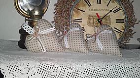 Dekorácie - srdíčka retro puntíkatá - 5013460_