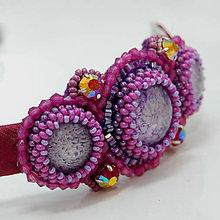 Ozdoby do vlasov - Purple ... čelenka - 5010095_