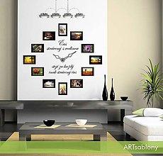Dekorácie - 3627n Nálepka na stenu - Čas strávený s rodinou - 5011820_