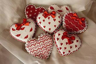 Dekorácie - Valentínske medovníčkové srdiečko - 5010794_