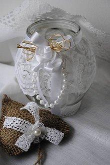 Svietidlá a sviečky - Lampášik vintage so srdiečkom-sada - 5009933_