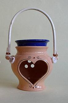 Svietidlá a sviečky - Aróma lampa - košíček so srdiečkom - 5012022_