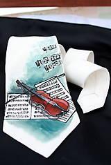 Doplnky - Hodvábna kravata - Husle - Violine - 5012535_