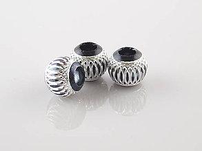 Korálky - Aluminio Moreno sfera - 5010944_