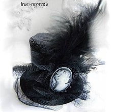 Ozdoby do vlasov - Gothický cylindrík - klobúčik - 5013893_
