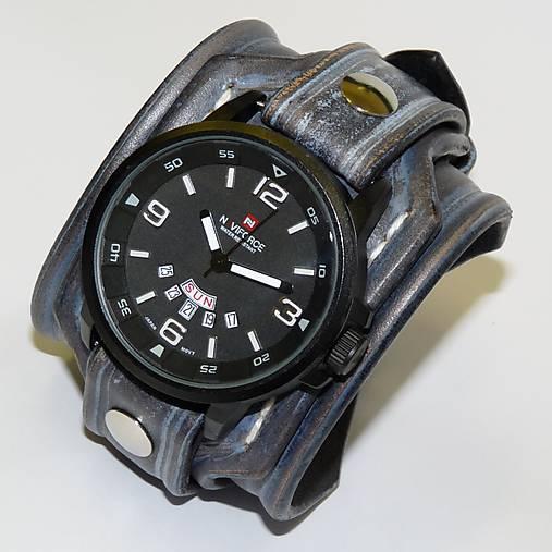 7a74dbe6d Pánske hodinky kožené modré / leon - SAShE.sk - Handmade Náramky
