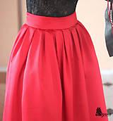 Sukne - Spoločenská skladaná sukňa rôzne farby - 5012982_