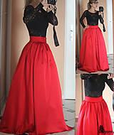 Sukne - Spoločenská skladaná sukňa rôzne farby - 5012983_