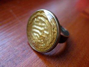 Prstene - Prsteň väčší guľatý (Tekuté zlato - akcia č.48) - 5012734_