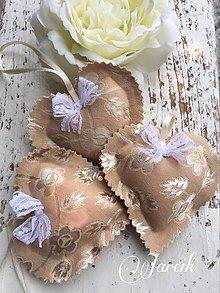 Darčeky pre svadobčanov - Svadobné srdiečka {zlaté} - 5011741_