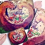 Papiernictvo - sada Ze srdce - pohlednice, záložka, magnetka - 5009795_