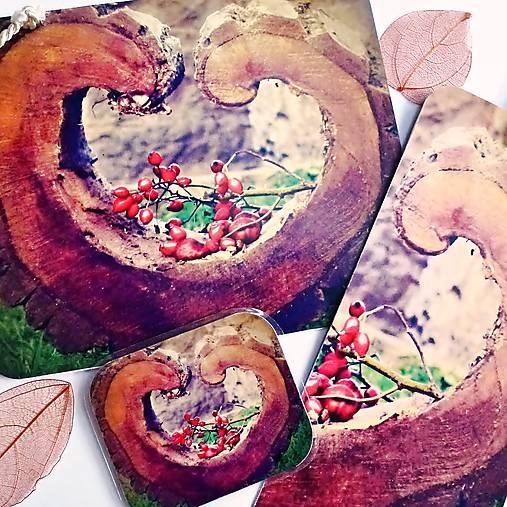 sada Ze srdce - pohlednice, záložka, magnetka