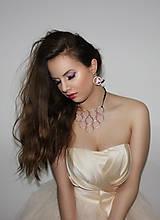 Náhrdelníky - metal & pink washi náhrdelník - 5016397_