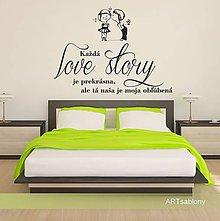 Dekorácie - (3626n) Nálepka na stenu - Love story - 5015652_