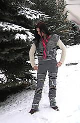 Nohavice - lel ,nožohrejky nohavice s vestou - 5015200_