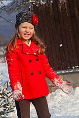 Detské čiapky - Šedá čiapočka s kvetinkou - 5014044_