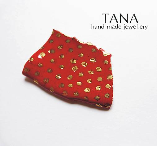 Tana šperky - keramika/zlato, Pre karkulku :)