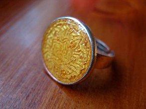 Prstene - Prsteň väčší guľatý (Marhulkovo-zlatý - akcia č.49) - 5016880_