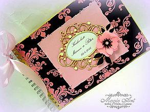 """Papiernictvo - Kniha hostí """"Pink Poppy"""" - 5014117_"""