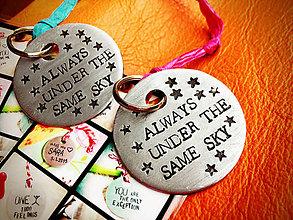 Kľúčenky - SKY + karička + STARS :) / cena za 2ks - 5017628_