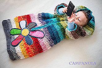 Detské oblečenie - Pestrý fusak s kvetom bez podšívky - 5020760_