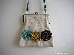 Kabelky - folk kabelka z plátna - 5018043_