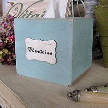Krabičky - Vintage zásobník na vreckovky - 5019208_