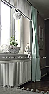 Úžitkový textil - Roleta/záclonka a závesy v simple štýle - 5017837_