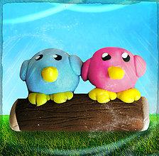 Drobnosti - Vtáčikovia na drievku - 5019611_