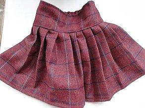 Detské oblečenie - Skladaná sukňa v škótskom štýle - 5023624_