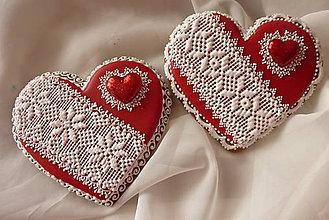 Dekorácie - Valentínske medovníkove srdiečko - 5023414_