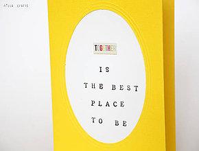 Papiernictvo - Byť spolu je to najlepšie - 5025362_