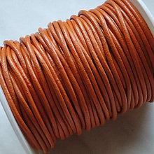 Galantéria - EKO koža 2mm-1m (oranžová) - 5023604_